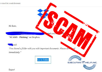Phishing Scams using Dropbox